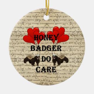 Honey badger do care ceramic ornament