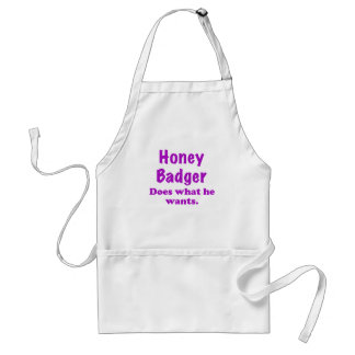 Honey Badger Does What He Wants Adult Apron