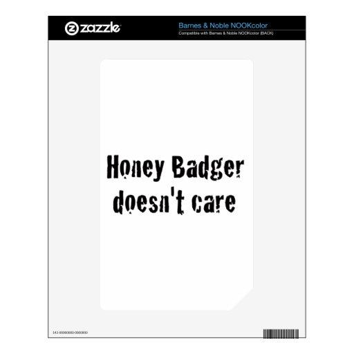 honey badger doesn't care NOOK color skin