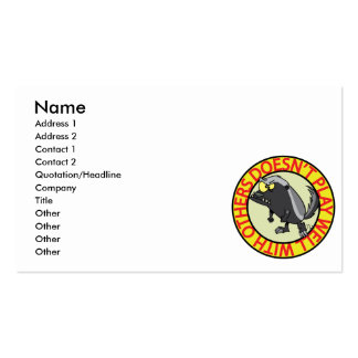 HONEY BADGER doesnt play well with others Double-Sided Standard Business Cards (Pack Of 100)