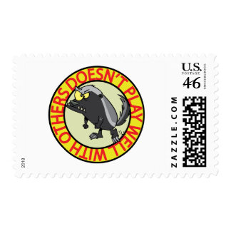 HONEY BADGER doesnt play well with others Postage Stamps