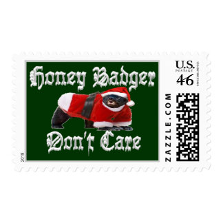 Honey Badger Don t Care Christmas Postage Stamp