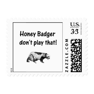honey badger don t play that postage stamps