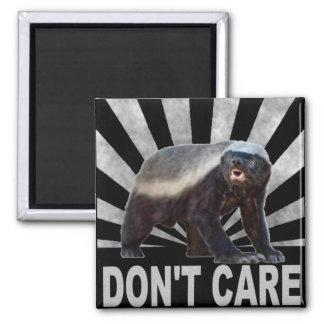 HONEY BADGER DON'T CARE 2 INCH SQUARE MAGNET