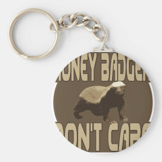 honey badger dont care 2 basic round button keychain