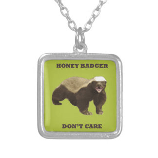 Honey Badger Don't Care Acid Green Necklace