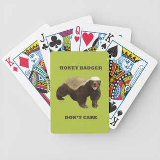Honey Badger Don't Care Acid Green Playing Cards