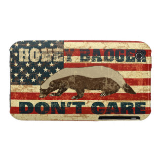 Honey Badger Dont Care American Flag iPhone 3 Case