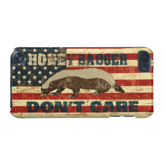 Honey Badger Dont Care American Flag iPod Touch (5th Generation) Case