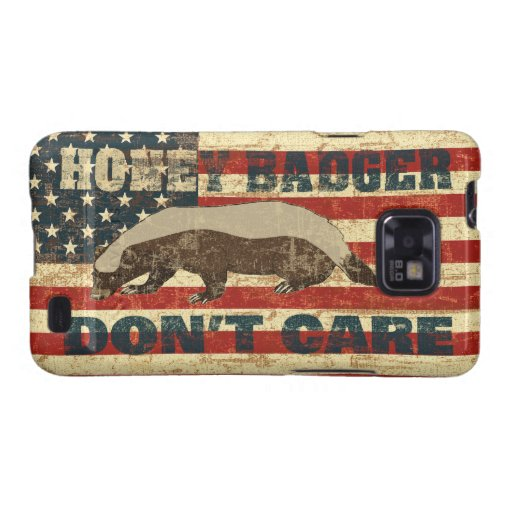 Honey Badger Dont Care American Flag Samsung Galaxy SII Cases