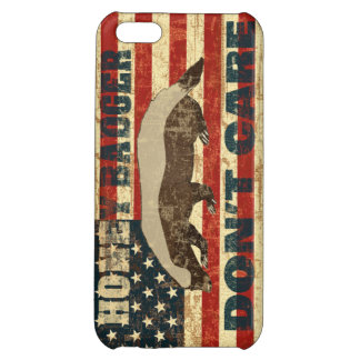 Honey Badger Dont Care American Flag iPhone 5C Covers
