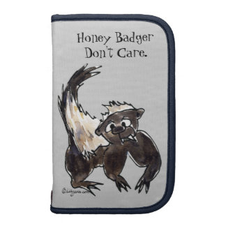 Honey Badger Don't Care Cartoon Planners
