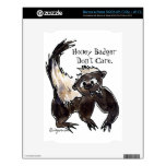 Honey Badger Don't Care Cartoon Decals For The NOOK