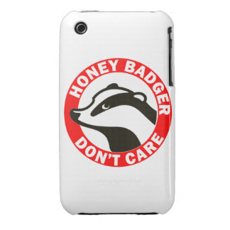 Honey Badger Don't Care iPhone 3 Case-Mate Cases