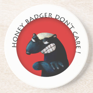Honey Badger don't Care! Coasters