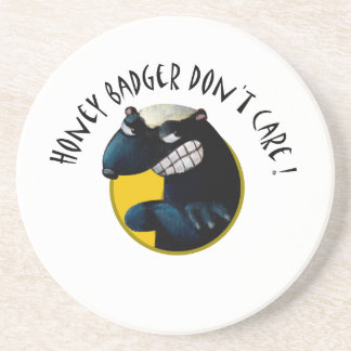 Honey Badger don't Care! Drink Coasters