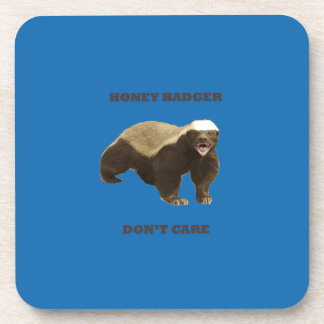 Honey Badger Don't Care. Crayon Blue Pattern Drink Coasters