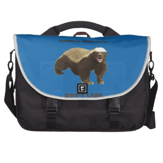 Honey Badger Don't Care. Crayon Blue Pattern Bags For Laptop