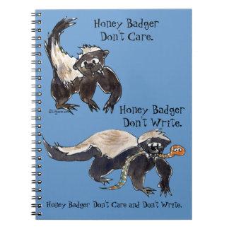 Honey Badger Don't Care Don't Write Comic Notebook