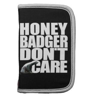 Honey Badger Don't Care Folio Planners