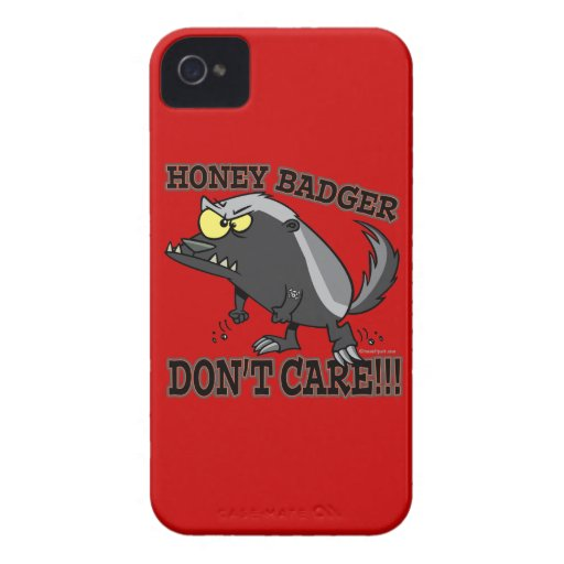 HONEY BADGER DONT CARE FUNNY CARTOON Case-Mate iPhone 4 CASE