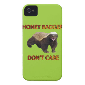 Honey Badger Don't Care, Funny, Cool, Nasty Animal iPhone 4 Case
