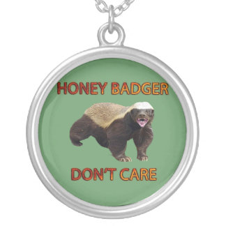 Honey Badger Don't Care, Funny, Cool, Nasty Animal Necklaces