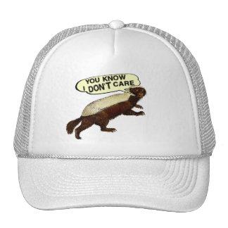 Honey Badger Don't Care - Honey Badger Gift Trucker Hats