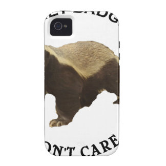 Honey Badger Don't Care Internet Memes Gifts iPhone 4 Covers