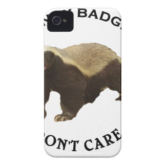 Honey Badger Don't Care Internet Memes Gifts iPhone 4 Cover