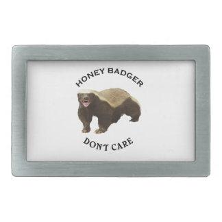 Honey Badger Don't Care Internet Memes Gifts Rectangular Belt Buckle