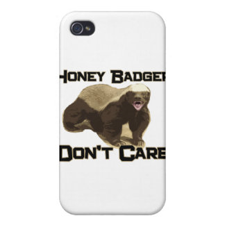 Honey Badger Don't Care iPhone 4 Case