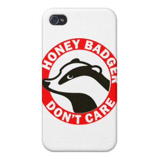 Honey Badger Don't Care iPhone 4/4S Cases