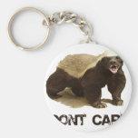 Honey Badger Don't Care Key Chain