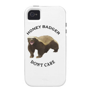 Honey Badger Don't Care logo Case-Mate iPhone 4 Cases