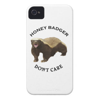 Honey Badger Don't Care logo iPhone 4 Cover