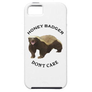 Honey Badger Don't Care logo iPhone 5 Covers
