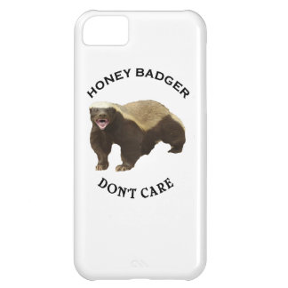Honey Badger Don't Care logo iPhone 5C Cases