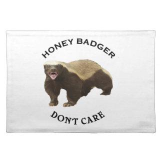 Honey Badger Don't Care logo Place Mats
