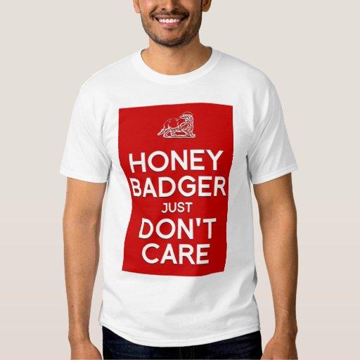 Honey Badger Don't Care men's t-shirt
