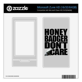 Honey Badger Don't Care Microsoft Zune HD Skins