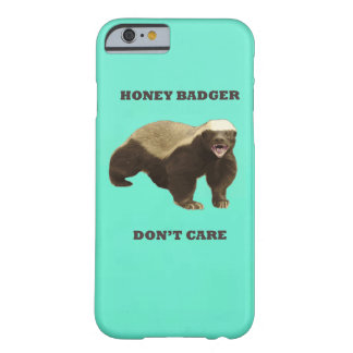 Honey Badger Don't Care Mint Green Barely There iPhone 6 Case