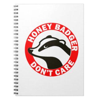 Honey Badger Don't Care Spiral Notebook