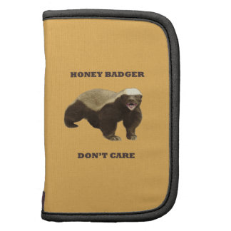 Honey Badger Don't Care On Beeswax Background Folio Planners