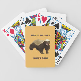 Honey Badger Don't Care On Beeswax Background Bicycle Poker Cards