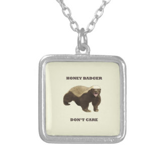 Honey Badger Don't Care On Beige Cream Background Pendants