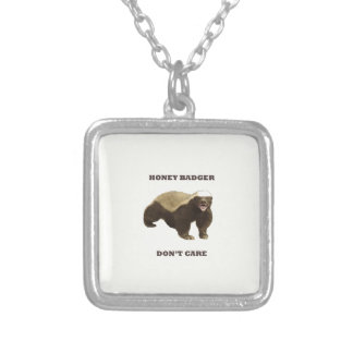 Honey Badger Don't Care On Beige Cream Background Pendant