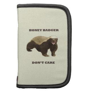 Honey Badger Don't Care On Beige Cream Background Organizer