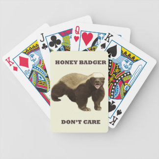 Honey Badger Don't Care On Beige Cream Background Bicycle Card Decks