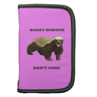 Honey Badger Don't Care On Bubblegum Pink Pattern Planner